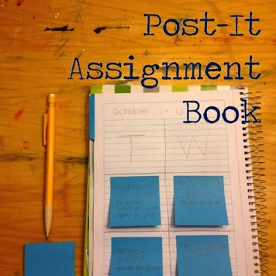 Organized Charm: Post-It Assignment Book