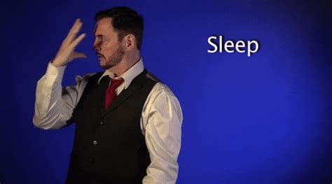 Sign Language Sleep GIF by Sign with Robert - Find & Share