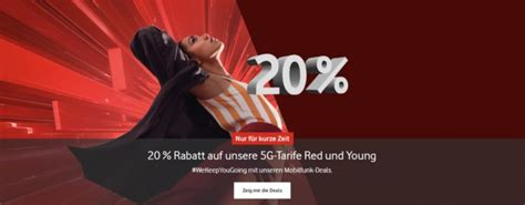 Vodafone Red (Young): 20% auf alle LTE/5G-Tarife