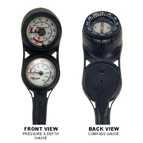 NEW Compact Scuba Dive Brass SPG and Depth Gauge w