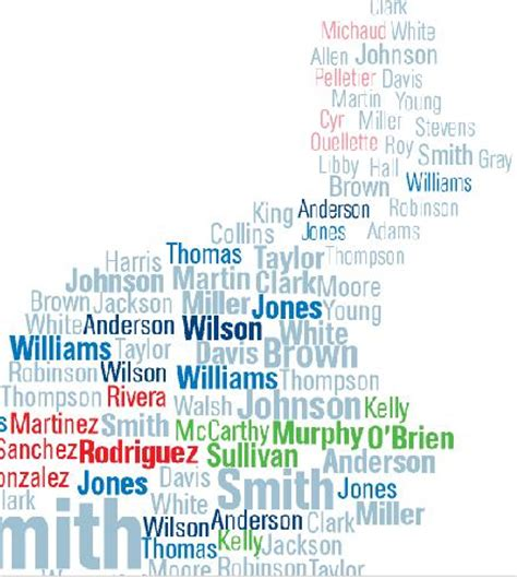 Maps of Surnames - Sociological Images