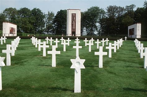 Luxembourg American Cemetery and the grave of general Patton
