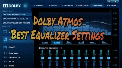 Dolby Atmos Best Equalizer Settings For Android   How
