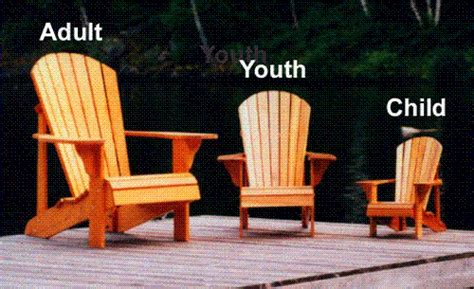 Children's Size Adirondack Chair Package Plan - Downloadable