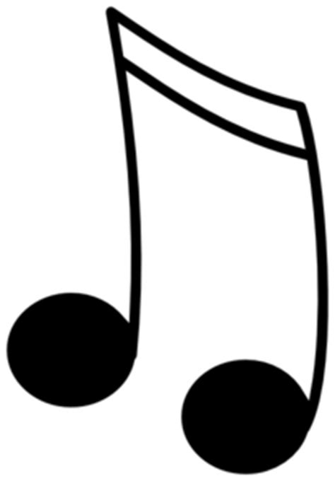 16th Notes Black W/ White Outline Clip Art at Clker