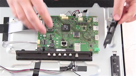 """Sony 40"""" LED TV Repair KDL-40R - How to Replace The Main"""
