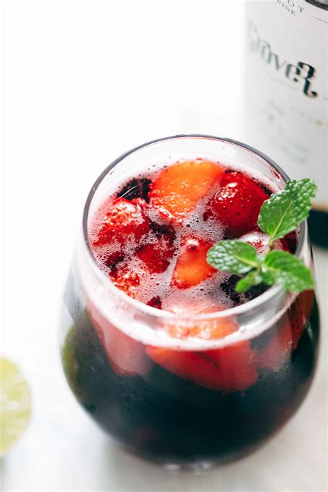 Summer Berry Red Wine Spritzer - My Food Story