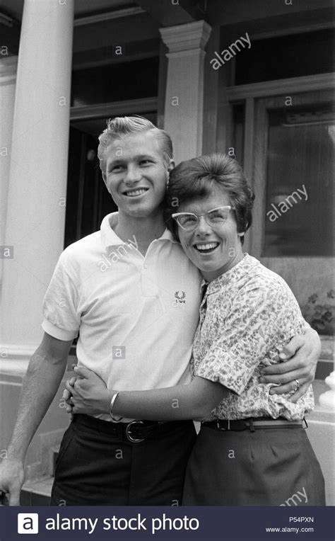 Billie Jean King and her husband Larry before they leave